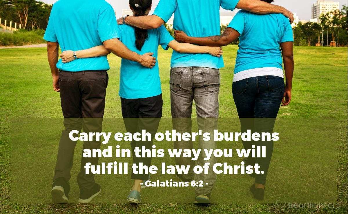 Inspirational illustration of Galatians 6:2