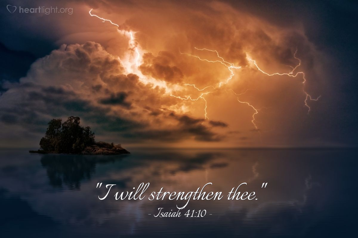 "Illustration of Isaiah 41:10 — ""I will strengthen thee."""