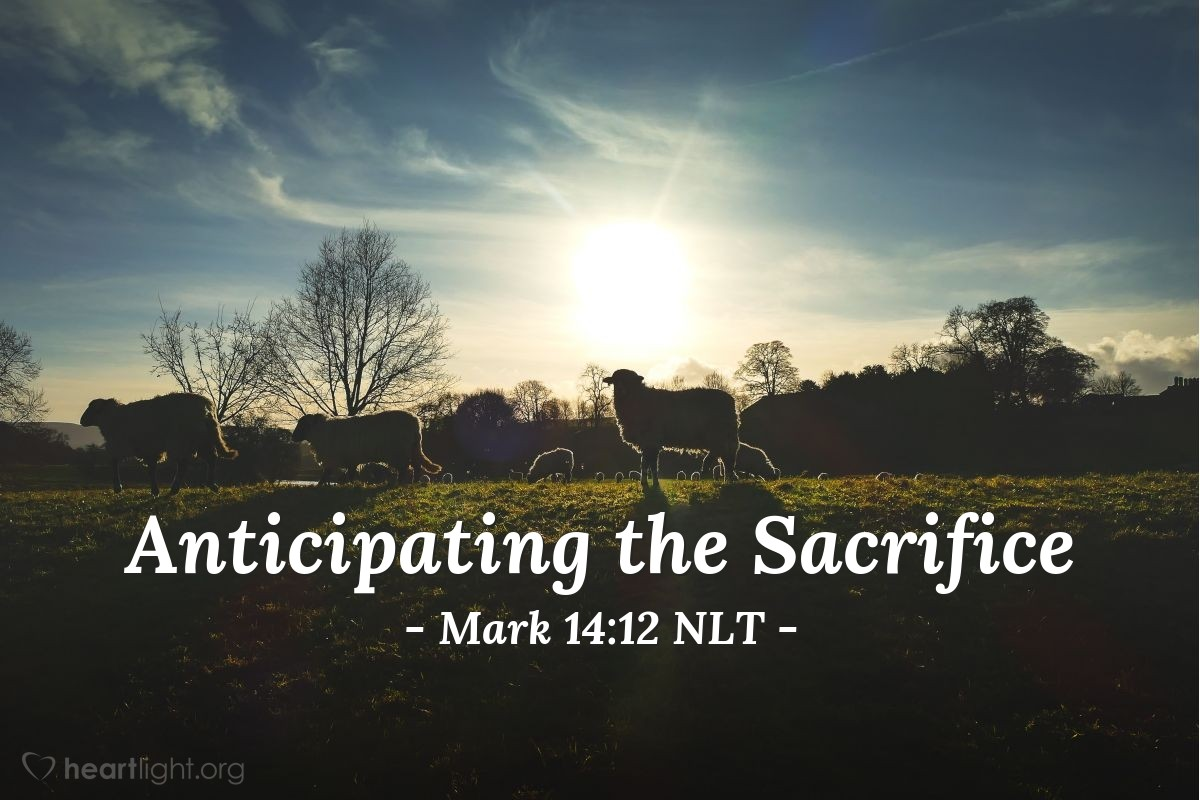 """Illustration of Mark 14:12 — """"We will go and prepare everything for you to eat the Passover meal. Where do you want us to have the meal?"""""""