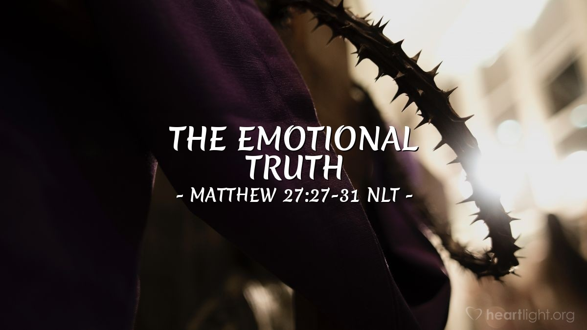 "Illustration of Matthew 27:27-31 NLT — ""Hello, king of the Jews!"""