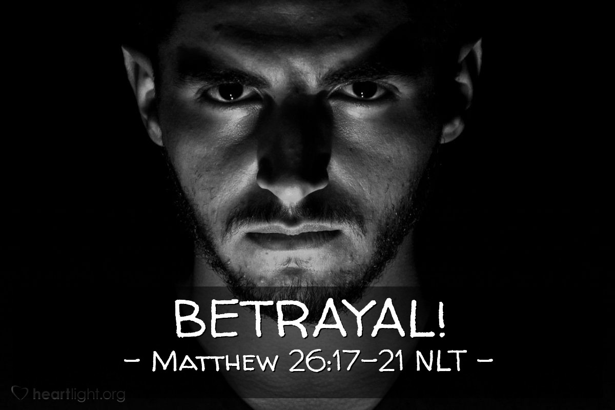 """Illustration of Matthew 26:17-21 — """"I tell you the truth. One of you twelve here will soon give me to my enemies."""""""