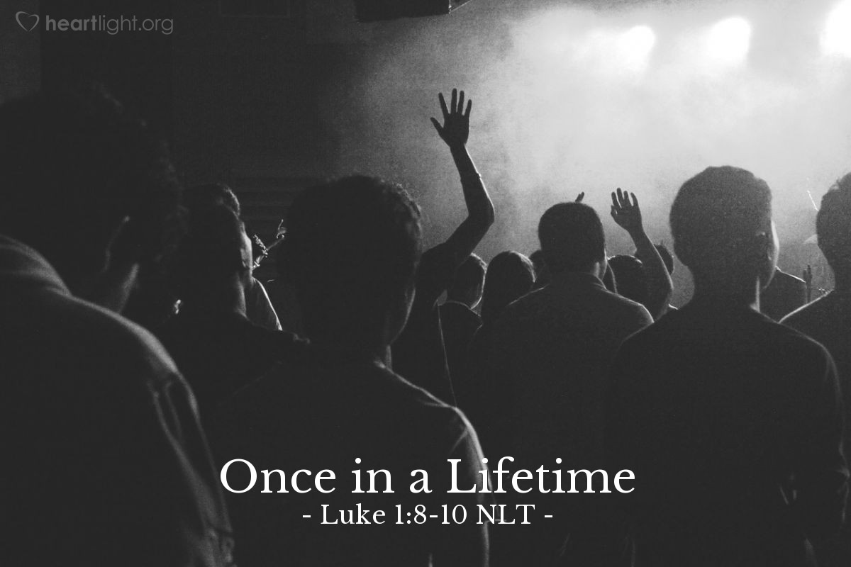 Illustration of Luke 1:8-10 NLT —  While the incense was being burned, a great crowd stood outside, praying.