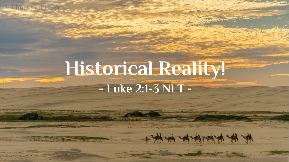 Illustration of Luke 2:1-3 NLT —  All people traveled to their own towns to be registered.