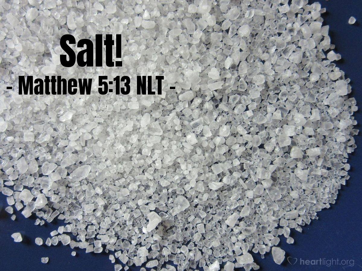 "Illustration of Matthew 5:13 NLT — ""You are the salt of the earth."""