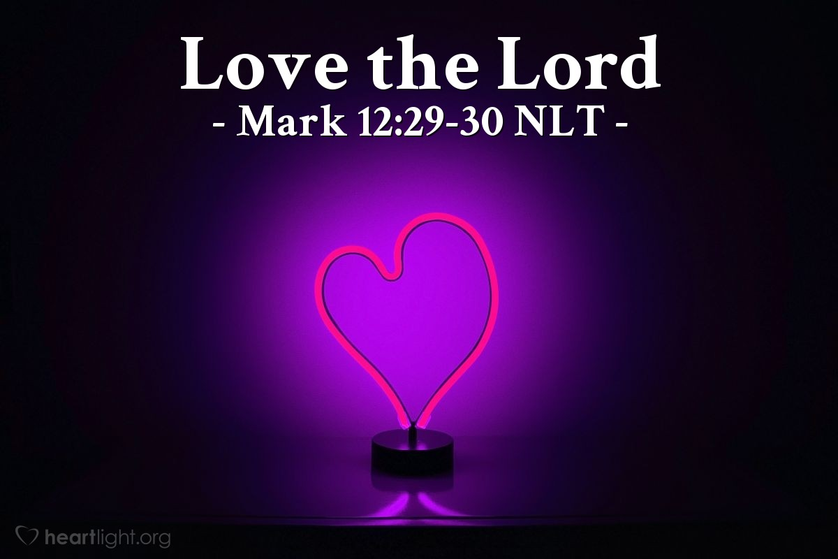 """Illustration of Mark 12:29-30 — """"The most important command is this: 'People of Israel, listen!"""""""