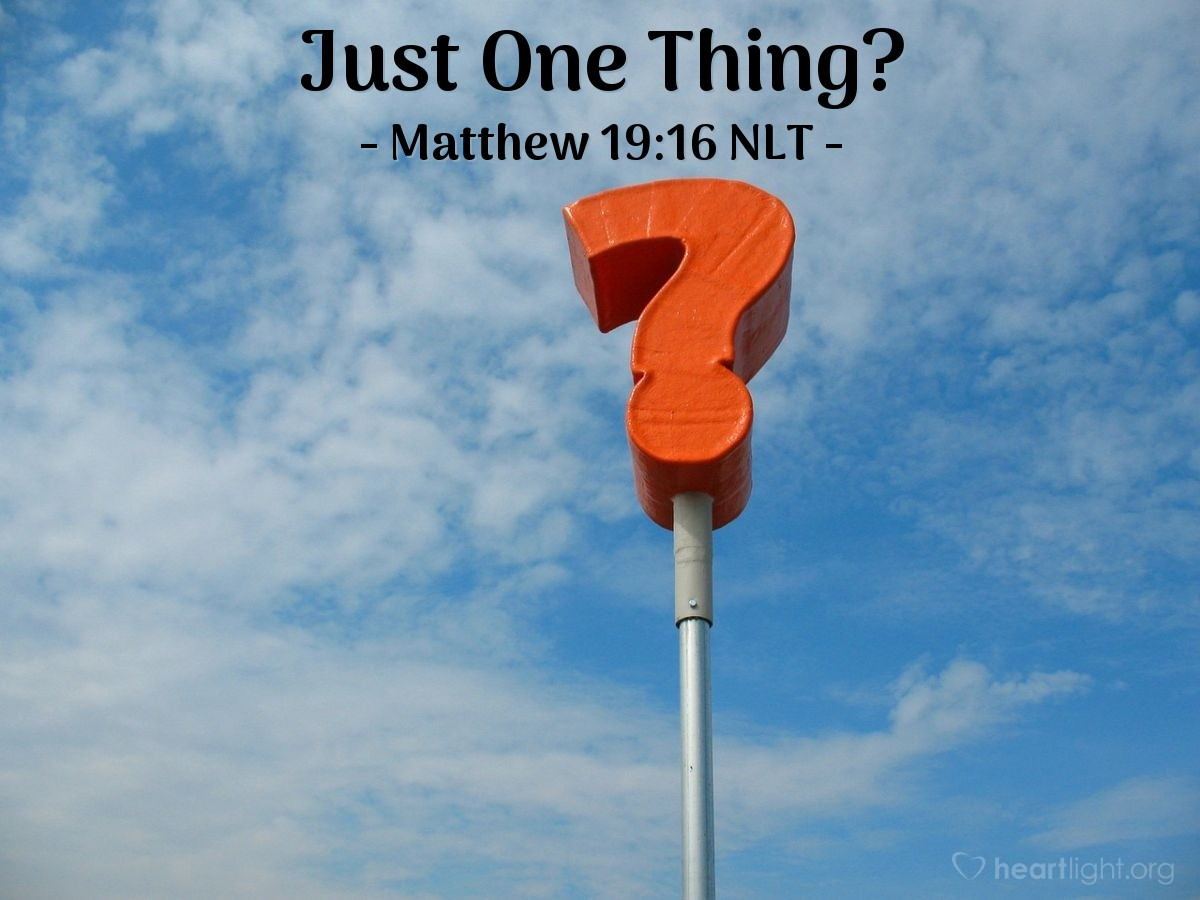 "Illustration of Matthew 19:16 — A man came to Jesus and asked, ""Teacher, what good thing must I do to have life forever?"""