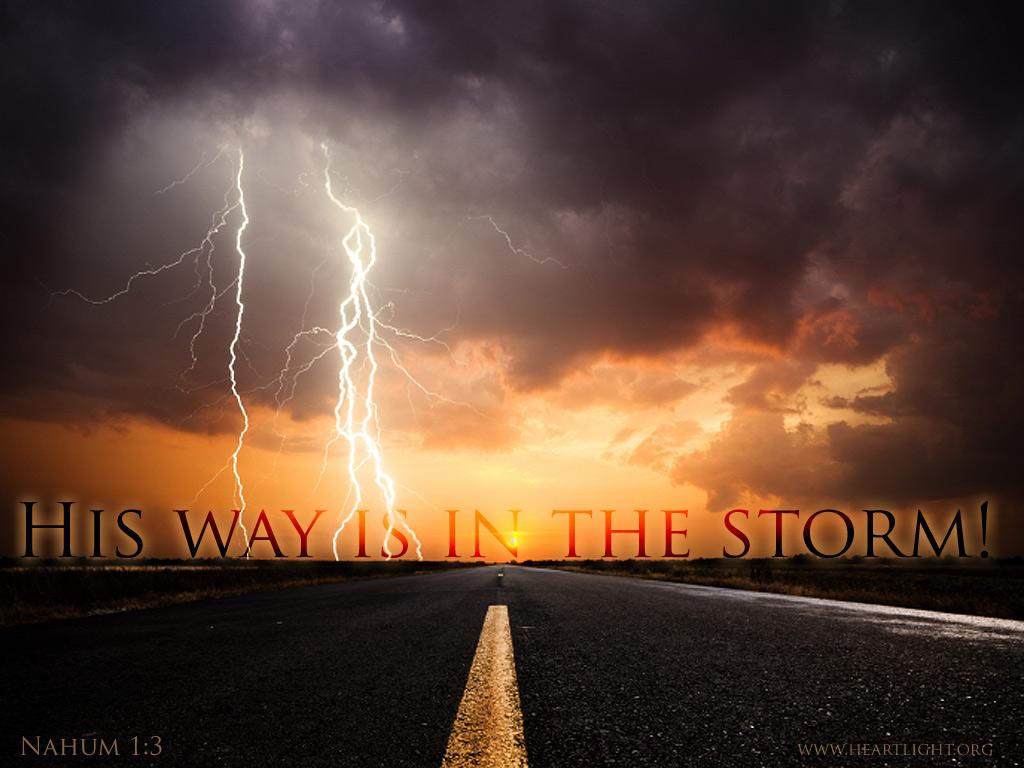 U0026quot His Way Is In The Storm U0026quot   U2014 Powerpoint Background Of Nahum