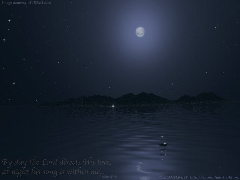 u0026quot his song in the night u0026quot   u2014 powerpoint background of psalm